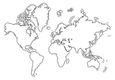 world map template world map silhouette pictures to pin on pinsdaddy