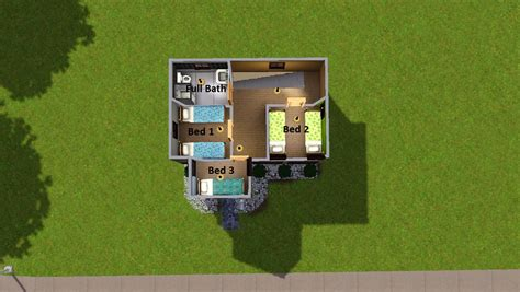 house interior s for sims 3 pretty small modern glass mod the sims tiny house 5 no cc 5 beds 1 bath