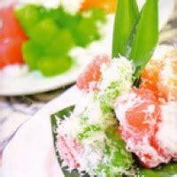 resep kue pelangi tabur kelapa jagat resep