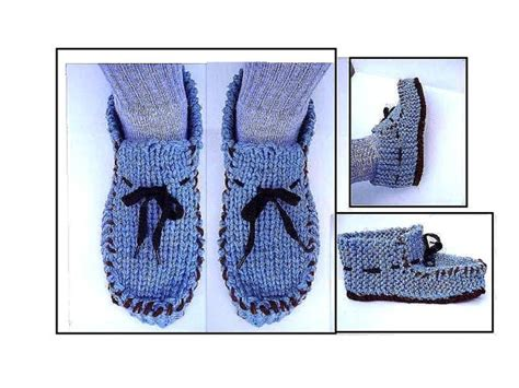 knitted moccasin slippers pattern s knit loafer moccasin slippers knitting pattern