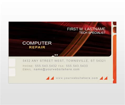 free business card templates computer repair pc repair december 2011