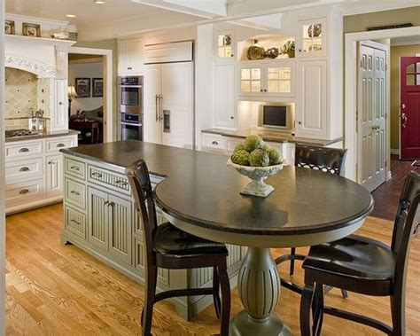 island with attached table design kitchen inspiration