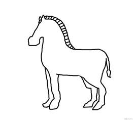 Zebra Outline Picture by Animal Crafts You Can Make With Your Page 26