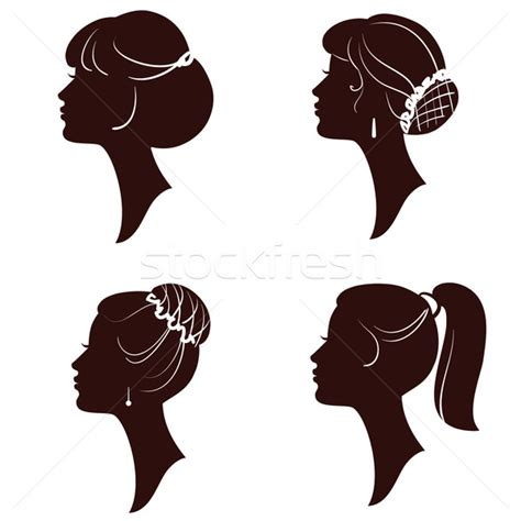 girl hairstyles vector hairstyles vector beautiful women and girls silhouettes