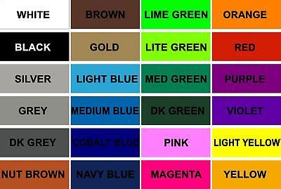 basic color chart rapid graphics and signs ebay stores