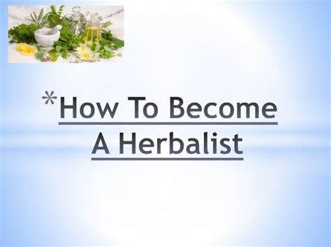how to become a herbalist