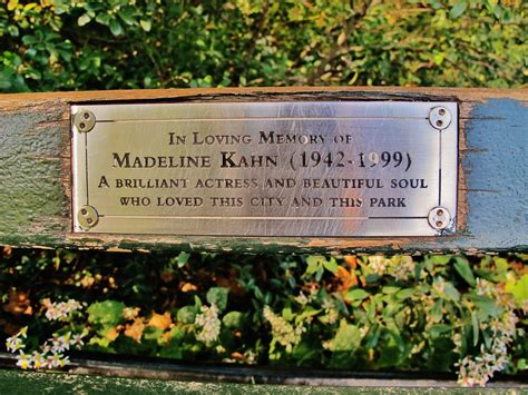 madeline kahn bench central park a paper moon sailing