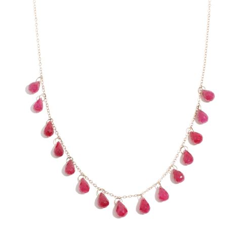 ruby gold necklace manning gold ruby 15 drop necklace lyst
