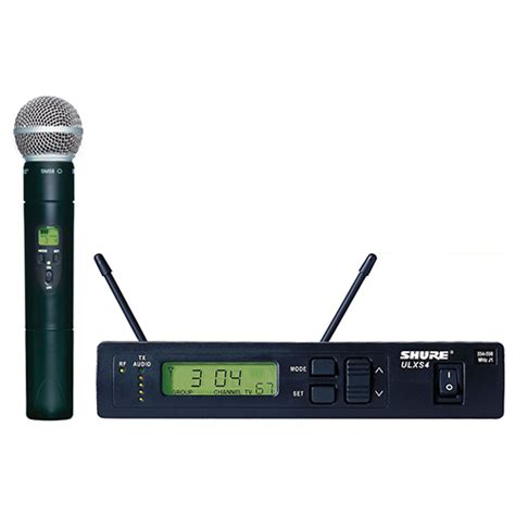 Mic Wireles Shure Gldx 24 Digital shure ulxs 24 58 handheld wireless microphone system 171 soundandvideorentals