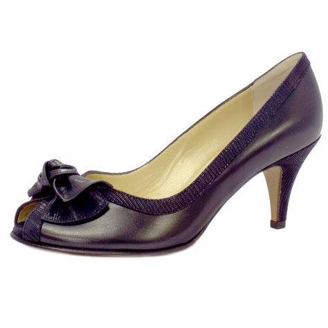 Peep Toe Shoes by Kaiser Satyr Peep Toe Evening Shoes In Navy