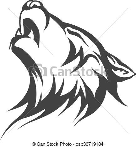 tribal tattoo wolf designs vector search clip art