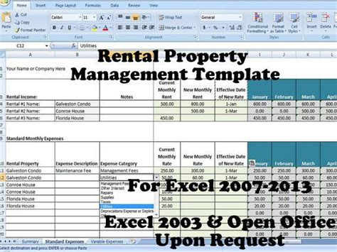 12 Best Images About Rental Property Management Templates On Pinterest A Well Names And Track Property Management Template