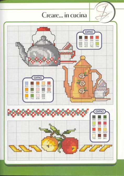 schema punto croce cucina schema punto croce bollitore e caffettiera cenefas punto