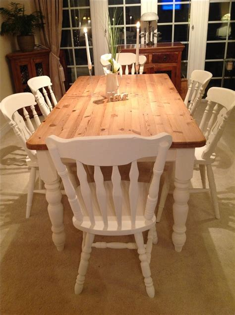 White Farmhouse Kitchen Table Farmhouse Table And Chairs Painted In Sloan