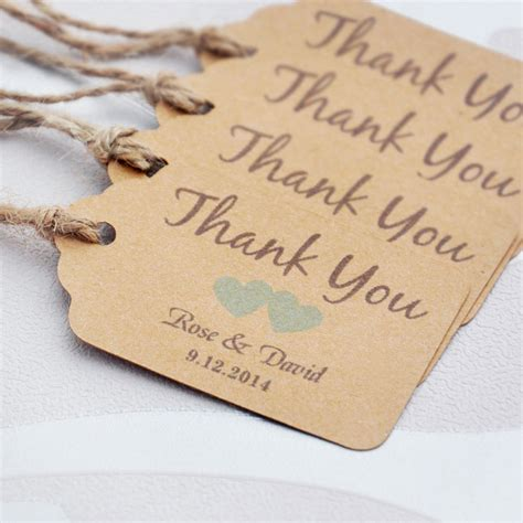 wedding tags aliexpress buy personalized thank you wedding tags