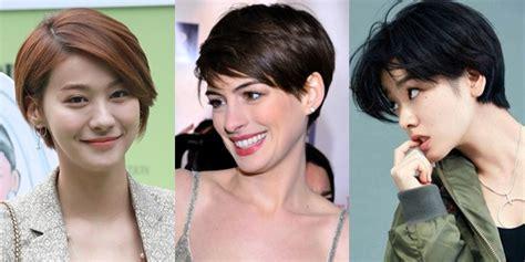ide model rambut pendek pixie  mama pasca lahiran