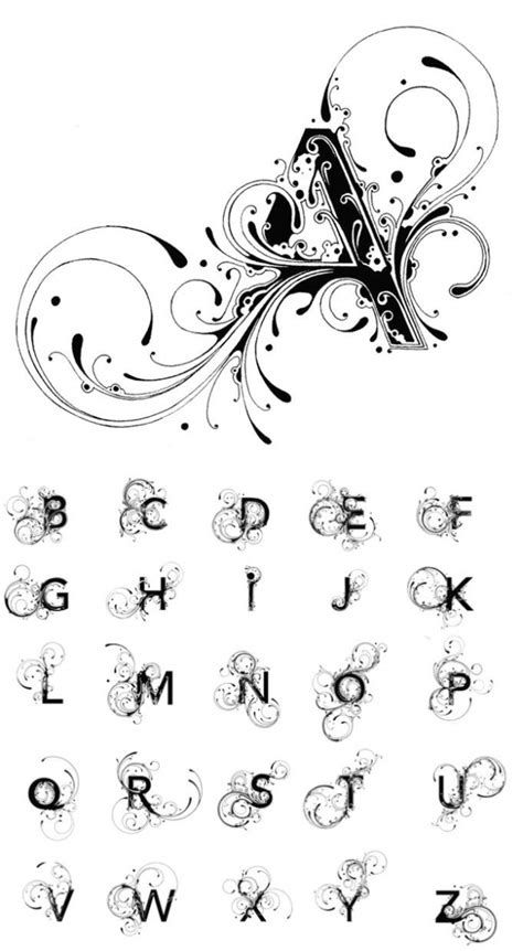 imagenes goticas letras alfabetos para tatuajes elegante tatuajes henna con