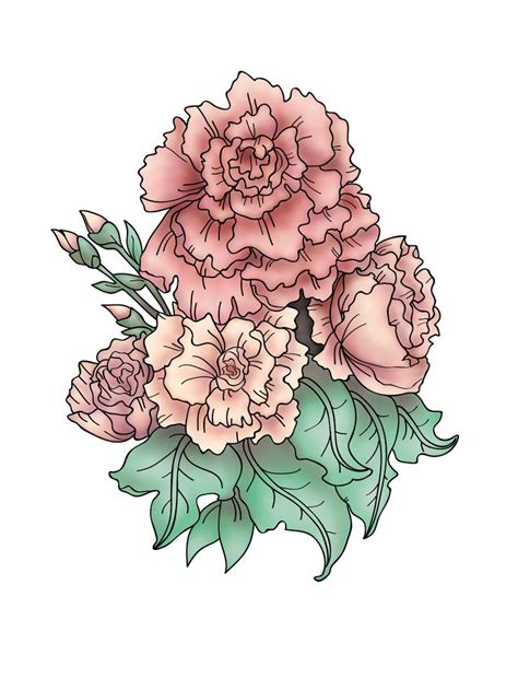 carnation and rose tattoos 25 best ideas about carnation on