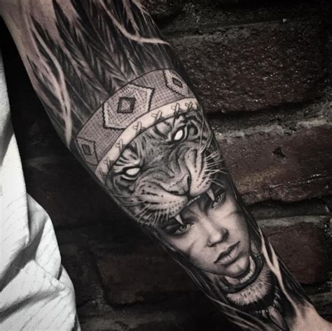 lion headdress tattoo tiger headdress ideas