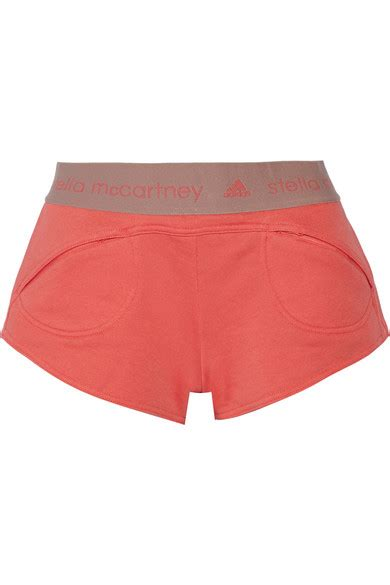 Cotton Blend Knit Shorts From Adidas By Stella Mccartney adidas by stella mccartney essentials cotton blend terry shorts net a porter