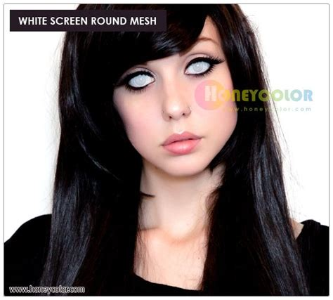white screen mesh lens color contact lens