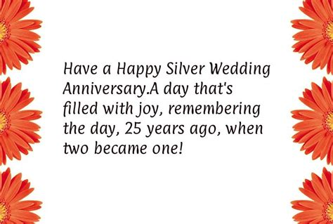 Silver Wedding Anniversary Quotes For by Silver Wedding Anniversary Quotes Quotesgram