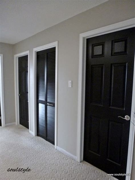 Painting Interior Doors Black Black Interior Doors 3 And Benjamin Revere Pewter Great Neutral The Paint Color