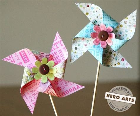 Handmade Windmill With Paper - paper windmill tutorial things to make