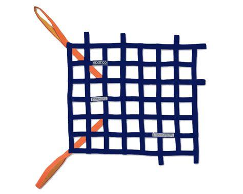 window net sparco racing sparco navy blue racing window net
