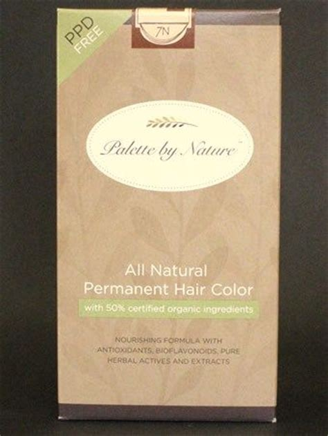 palette by nature hair color palette by nature all natural permanent hair color