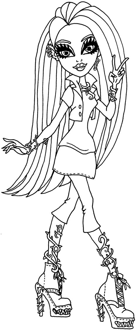 venus mcflytrap monster high free coloring pages