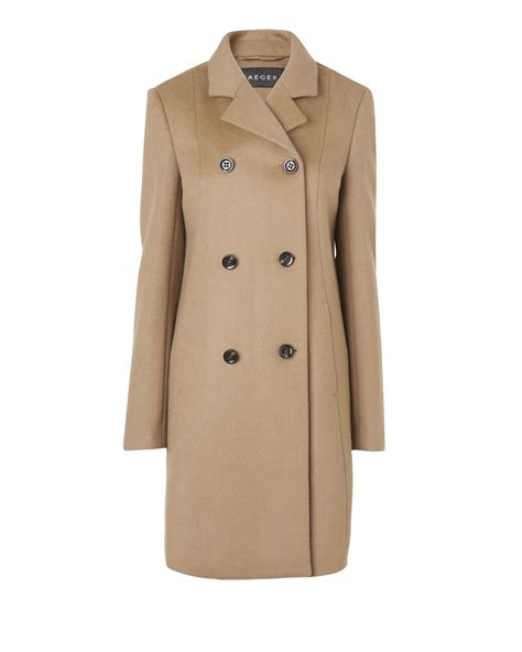 camel swing coats for ladies jaeger wool aline swing coat in brown camel lyst