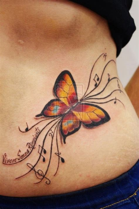 tattoo designs colourful butterfly note tats tattoos