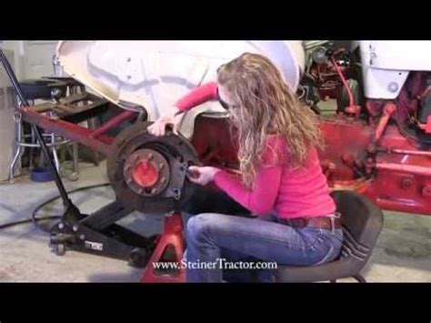 replacing rear axle seals  ford   youtube  ford tractor ford tractors vw