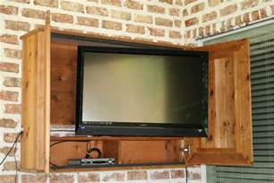Exterior Tv Cabinet Outdoor Tv Cabinet For The Patio Diy