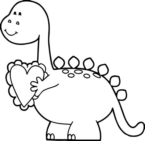 dinosaur valentine coloring sheet coloring pages
