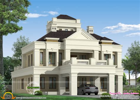 colonial style kerala home design and floor plans colonial style home