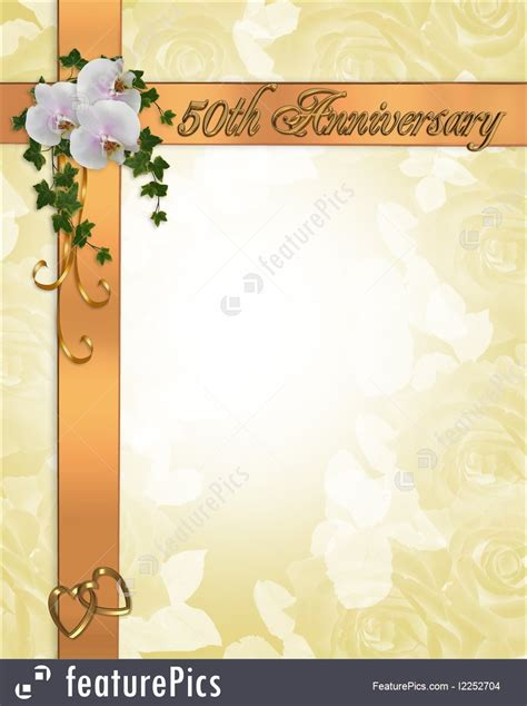 backdrop design for wedding anniversary templates 50th anniversary invitation stock