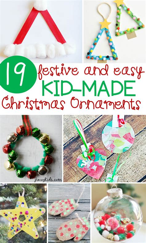 festive and simple kids christmas ornaments the