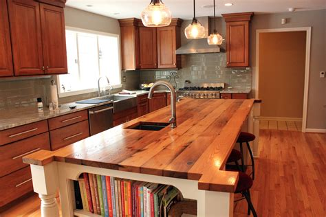 Kitchen Table Vs Island Is A Butcher Block Countertop The Same As A Custom Wood