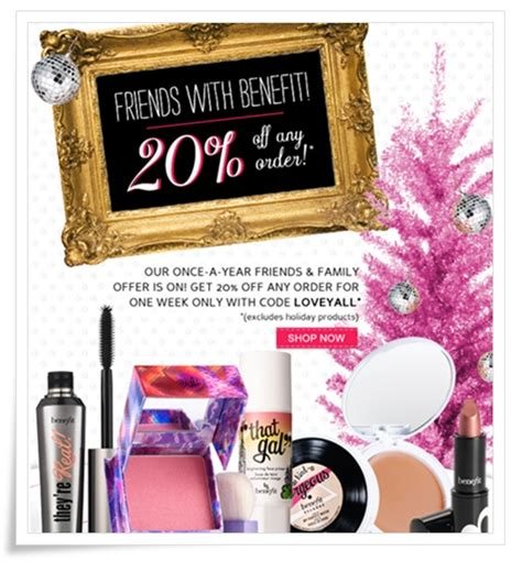 tattoo junkee cosmetics discount code benefit cosmetics friends and family 2011 20 off coupon