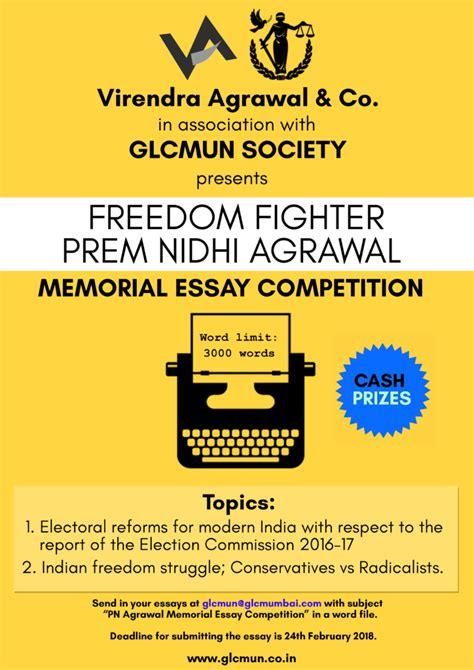 Geoffrey Memorial Essay Competition by Prem Nidhi Agrawal Memorial Essay Competition By Virendra Agrawal Co Glcmun Society Prizes