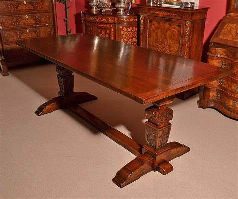 antique solid oak refectory dining table and 8 chairs at regent antiques dining tables and chairs table and