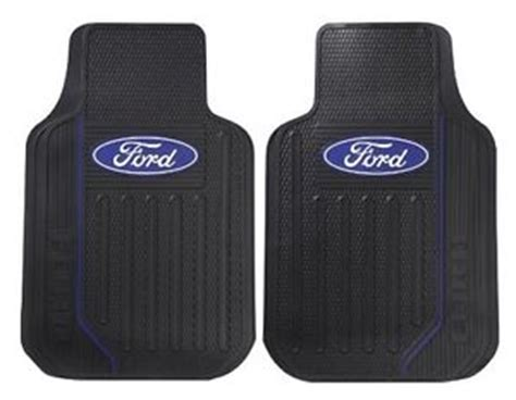 pair plasticolor ford logo elite floor mats lh rh