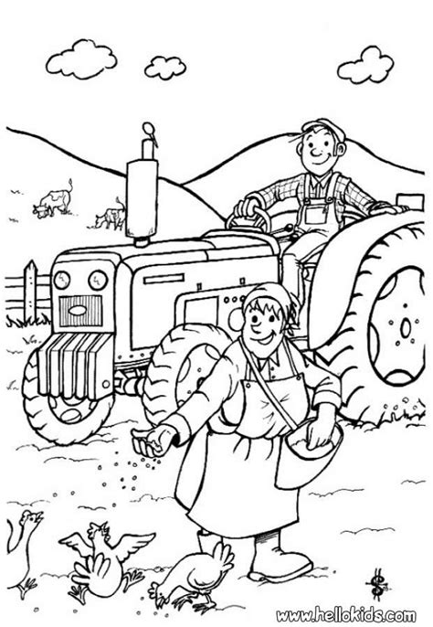 farmer coloring pages hellokids com