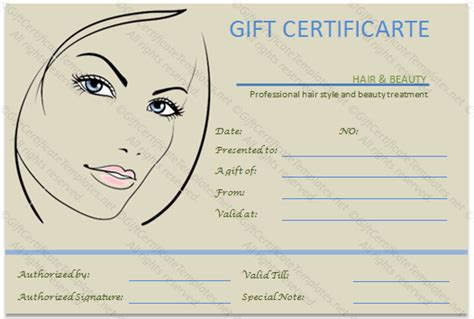 the simple beauty spa gift certificate template