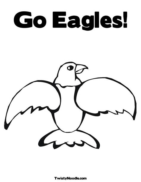eagle mascot coloring pages philadelphia eagles logo pictures coloring home