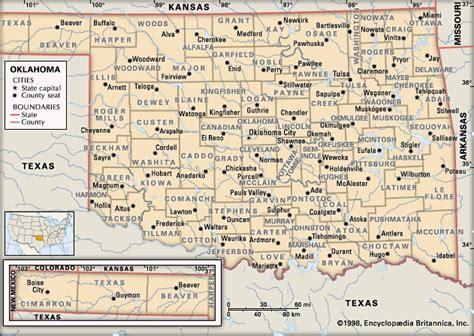 geographical map of oklahoma oklahoma encyclopedia children s homework help