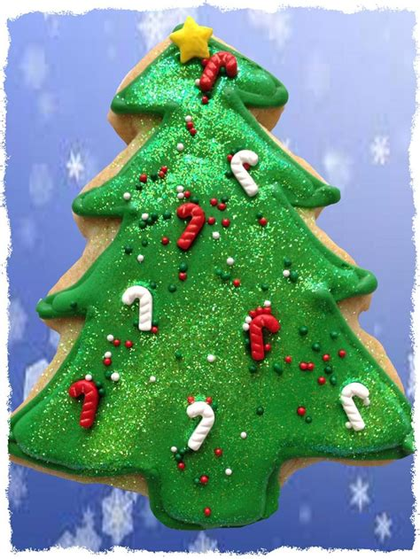 christmas tree sugar cookie holiday cookies pinterest