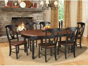 America dining room british isles oval leg table oak black bri ob